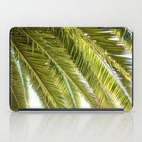 palms iPad Cases featuring Palms by Claire Jantzen