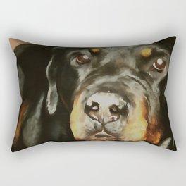 Dogs Lover Rottweiler Pet Portrait Rectangular Pillow