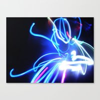 neon Canvas Prints featuring Neon by Monica Ortel ❖