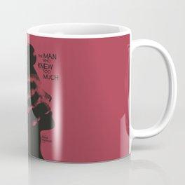 The Man who Knew Too Much, Alfred Hitchcock, minimal movie poster, alternative film playbill, cinema Coffee Mug