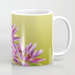 Water Lilies violet green Coffee Mug