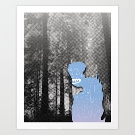 Monster in Forrest Art Print