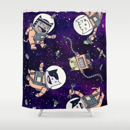 CatStronauts Shower Curtain