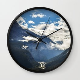 Early Morning Icefields Parkway Wall Clock