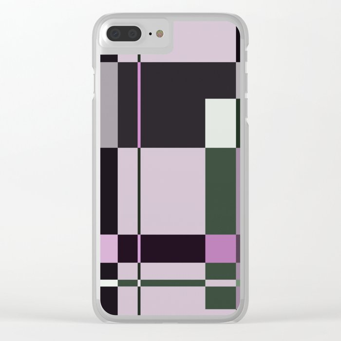 Interesting Geometry - Pale, pastel artwork Clear iPhone Case