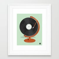 record Framed Art Prints featuring World Record by Ryder Doty