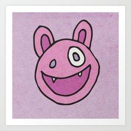 Slightly Amused Monsters, VII Pink Art Print