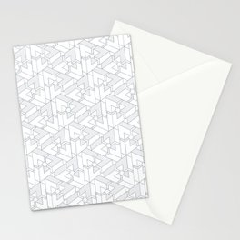 Triangle Optical Illusion Gray Lines  Stationery Cards