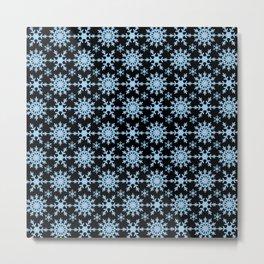 Let it Snow Mix 1 Midnight Version Metal Print