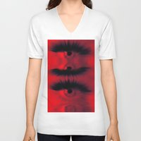 all seeing eye V-neck T-shirts featuring EYE AM All Seeing by Eye Am