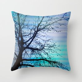 tree of wishes Throw Pillow