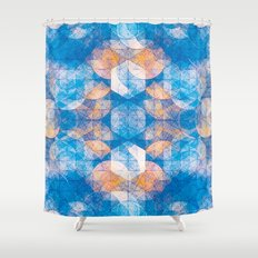 Cuben Kaleidoscope Shower Curtain