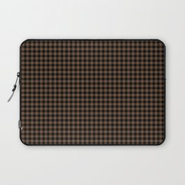 Mini Black and Brown Coffee Cowboy Buffalo Check Laptop Sleeve
