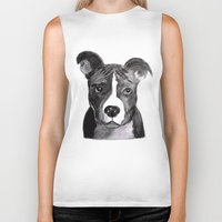 pit bull Biker Tanks featuring Pit Bull Dogs Lovers by Gooberella