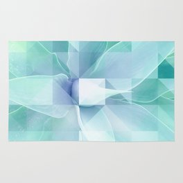 Soft Geo Agave - Aqua and blue Rug