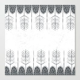 feather gray stamp Canvas Print
