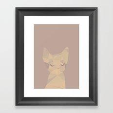 Cut fragments Cat Framed Art Print