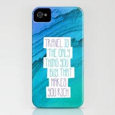 Travel mindfulness print Slim Case iPhone (4, 4s)