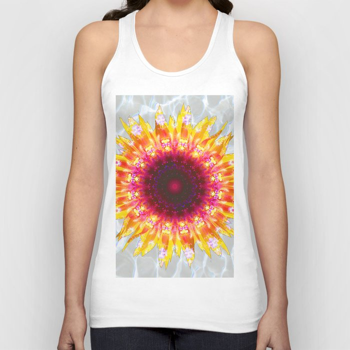 sunflower happiness Unisex Tank Top