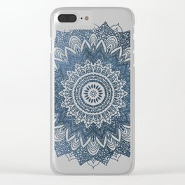 BOHOCHIC MANDALA IN BLUE Clear iPhone Case