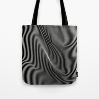 Minimal curves black Tote Bag
