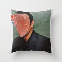 kevin russ Throw Pillows featuring Kevin by Marko Köppe