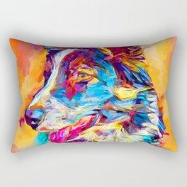 Border Collie 3 Rectangular Pillow