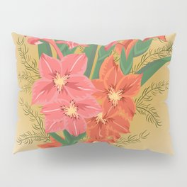 Bouquet of pink and red gladioluses Pillow Sham