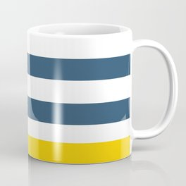 Navy and yellow stripes Coffee Mug