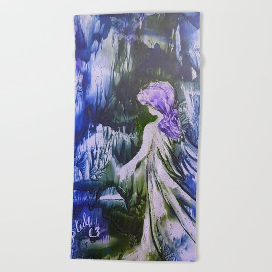 Lost Girl 2 - Blue Forest Beach Towel