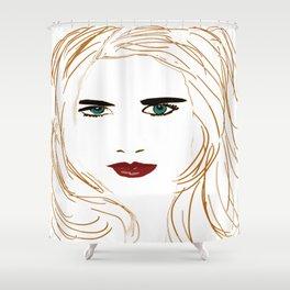 Digital face Shower Curtain