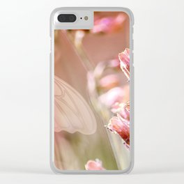 ROSE SPANGLES no5-QF-Butterfly Clear iPhone Case