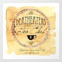 Riddle's Tea Shoppe Deatheaters Tea Club Art Print
