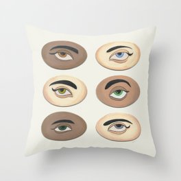 Lover's Eyes Throw Pillow