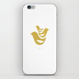woodland friends- birds iPhone Skin