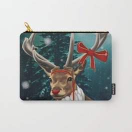 Christmas deer Rudolph Carry-All Pouch