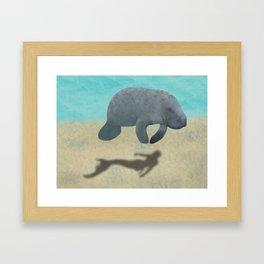 Manatee Shadow Framed Art Print