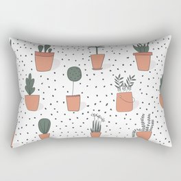 Drawing Garden Pots Rectangular Pillow