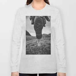Let's Explore (Black and White) Long Sleeve T-shirt
