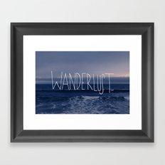 Wanderlust Ocean Framed Art Print