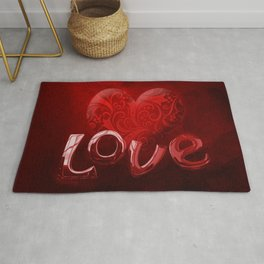 Bold, Red Hot Love Rug