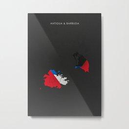 Antigua And Barbuda Map Metal Print