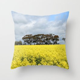 Canola Fields in Foxhow Throw Pillow