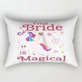 Funny Bride To Be Bridesmaid Unicorn Party Gift Rectangular Pillow