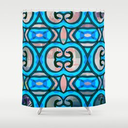 Pinky Blues Shower Curtain