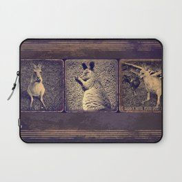 Eat, sleep and be happy with you best friend. Laptop Sleeve