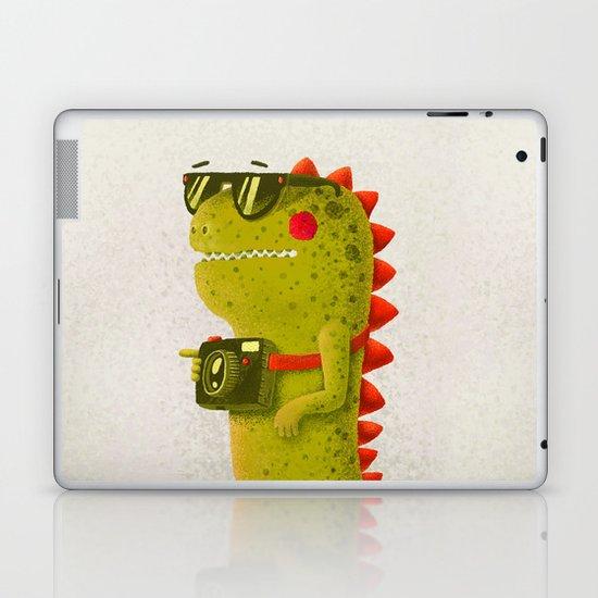 Dino touristo (olive) Laptop & iPad Skin