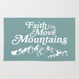 Retro Faith can Move Mountains Rug