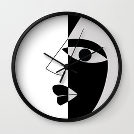Black and white face Wall Clock