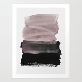 mauve & black Art Print